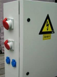 werfkast aansluiting elektriciteit